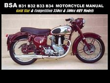 BSA B31 OPERATION MAINTENANCE MANUALs for B32 B33 B34 Motorcycle Service Repair