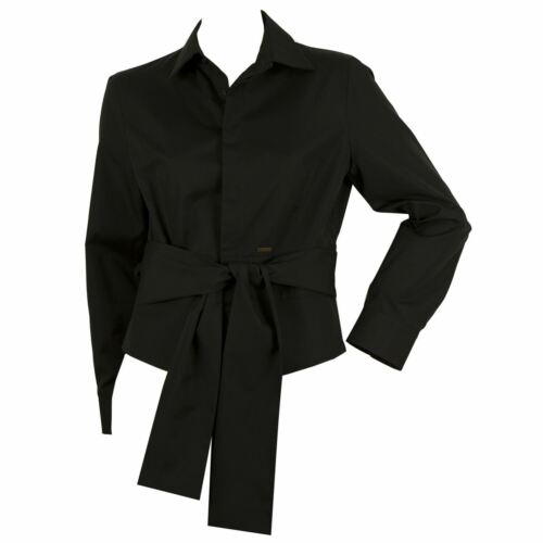 94c565bc 6 of 7 DSquared 2 Black Button Down Front Womans Long Sleeve Fitted Shirt  Top - SZ 44