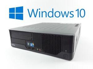 FSC-Esprimo-E5731-Desktop-E8400-Core2Duo-2x-3ghz-4gb-Ram-250gb-HDD-DVD-Win10-Pro