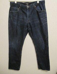 Mens-MICHAEL-CORS-Straight-Leg-Classic-Style-Jeans-Dark-Blue-Wash-Size-34x30