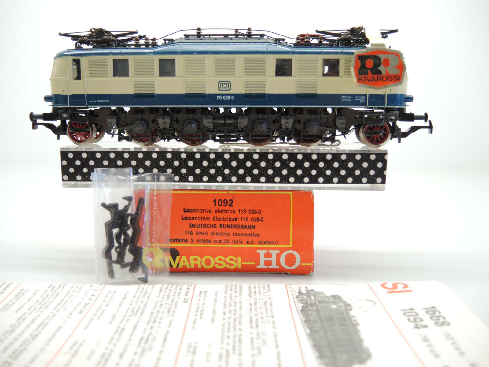 Rivarossi 1092 E-Lok BR 118 028-9 der DB, AC für Märklin, sehr gut OVP  | Merkwürdige Form