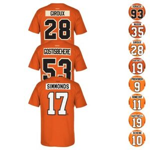 0ed0465447a Image is loading Philadelphia-Flyers-Reebok-Official-Player-Name-amp-Number-