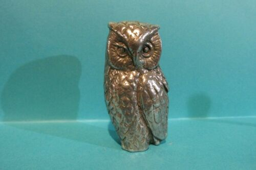 Details about  /Nicely Detailed Pewter Owl Figurine 2 inches tall