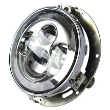 """7"""" LED Projector Daymaker Chrome Headlight For Harley with Adapter Mount ring"""