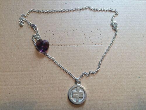 Tomar ese Collar con Corazón Púrpura Nuevo