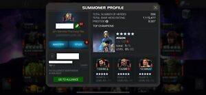 Marvel Contest of Champions account 5* fully maxed Aegon with plenty of content