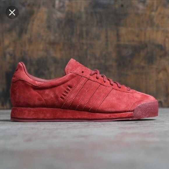 Adidas Samoa Vintage Suede Pig Skin Mystery rosso Dimensione 10 Style  B39016 Deadstock