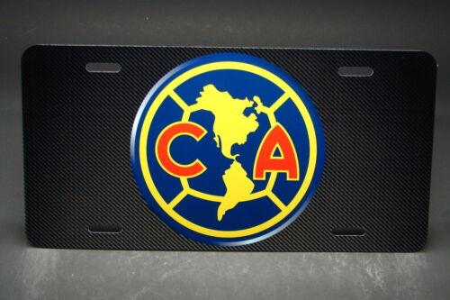 CLUB AMERICA ALUMINUM LICENSE PLATE FOR CARS MEXICO MX FOOTBALL  MX SOCCER.
