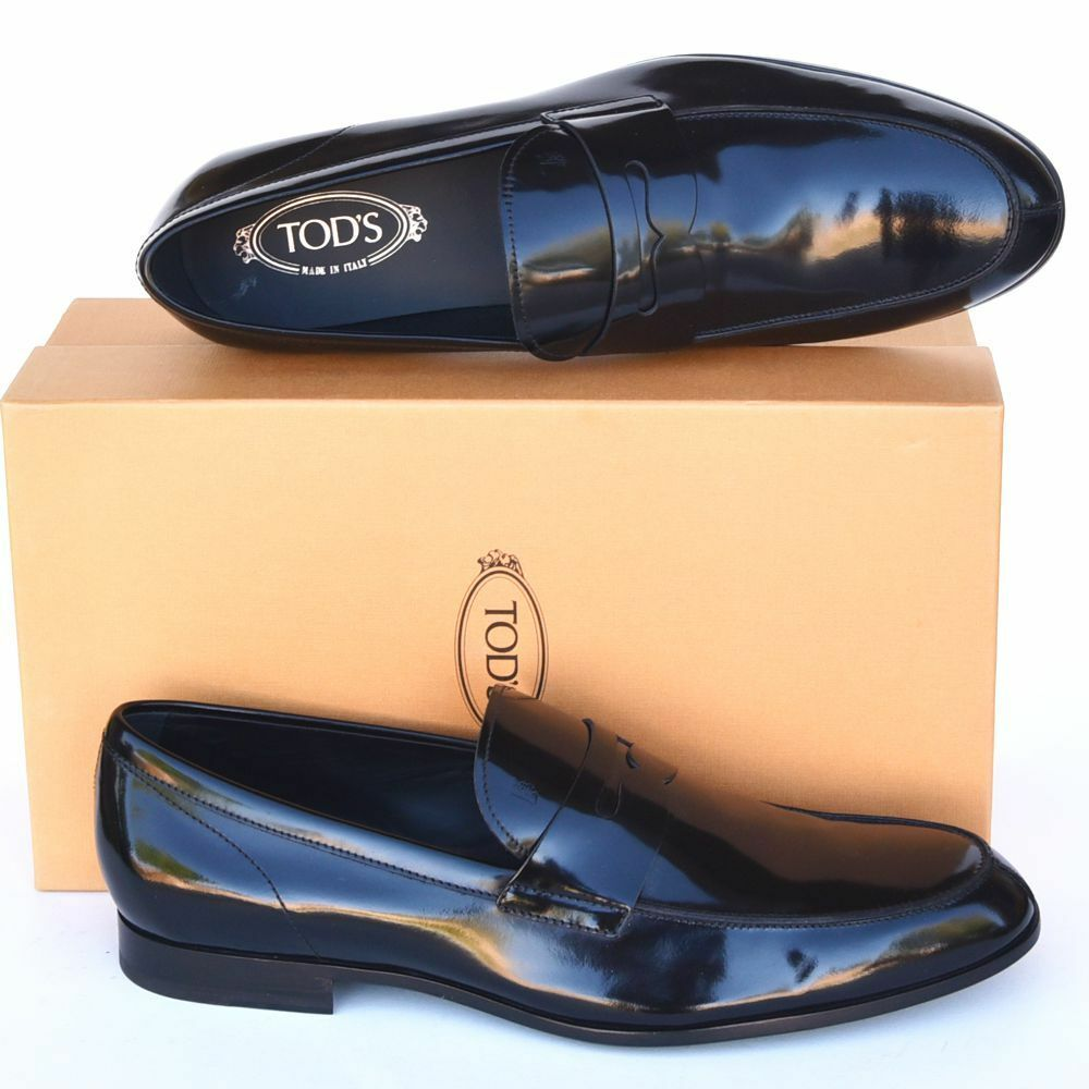 TOD'S Tods New sz US 13 Mens Designer Leather Dress Loafers scarpe nero