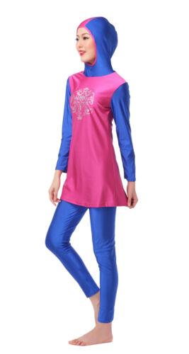 Muslim Women Modest Swimwear Full Cover Swimsuit Islamic Beachwear Abaya Burkini