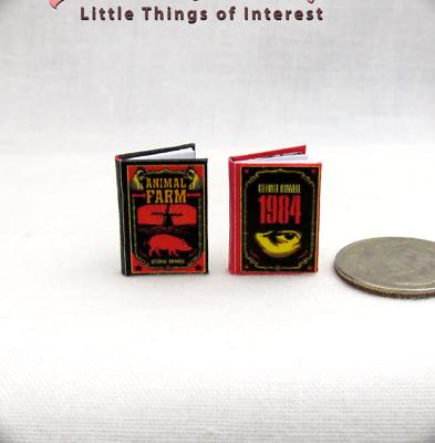 Animale Fattoria & 1984 Set Di 2 Casa Delle Bambole Miniatura Libri 1:12 Scala In Vendita