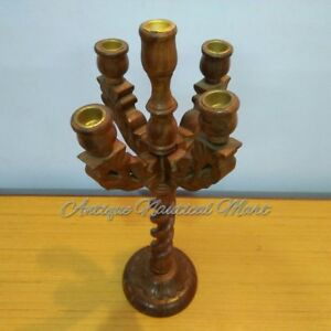 Wooden Candelabra For Parties Weddings Events Home Decorative Up-To-Date Styling Antiques