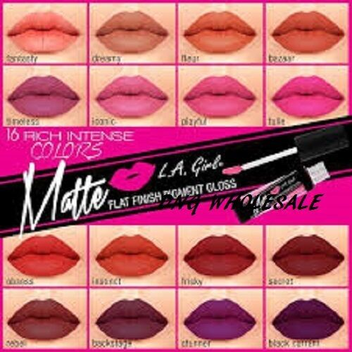 LA GILR 20 +2 PCS of 16 Colors L.A. Girl Matte Finish Lip Gloss LIPSTICK
