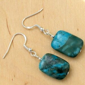 b60d88dd5190c Details about Gemstone Earrings With Blue Crazy Lace Agate & Sterling  Silver Hooks LB260