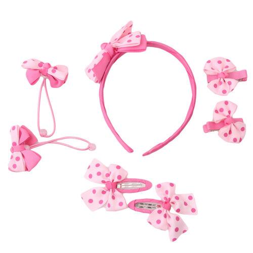 Lovely Baby Kids Girls Bowknot Headband Toddler Hair Band Headwear Set D