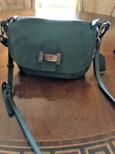 ce095d192b Reed Krakoff Cross Body Teal Green leather Handbag with Gun Medal ...