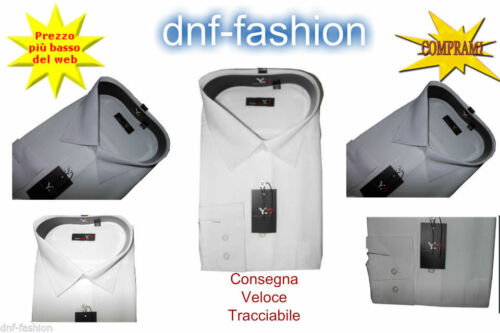 Camicia classica uomo Y-7 Manica Lunga Collo Classico € 15,80 Spedizione Gratis