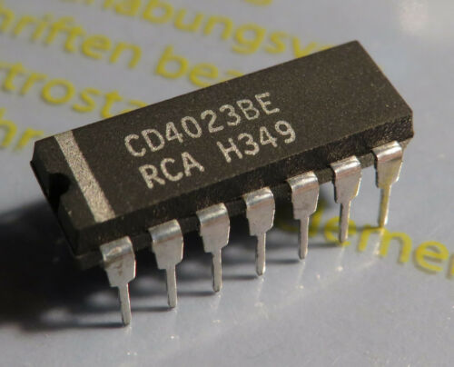 RCA 10x CD4023BE Triple 3-Input NAND Gate