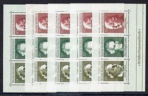 Bund 5 x Mi. Nr. 596 / 598 Block 5 Frauenwahlrecht  ** aus Jahrgang 1969 (16)