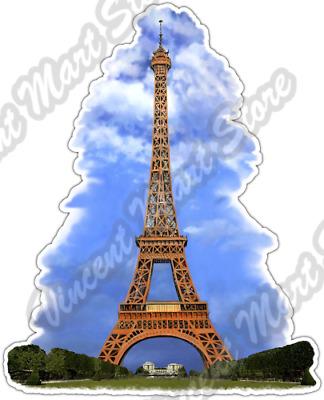SELECT SIZE Eiffel Tower Paris France Car Vinyl Sticker