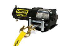 Champion Power Equipment 2,200 lb. ATV/UTV Power Winch Kit 100127