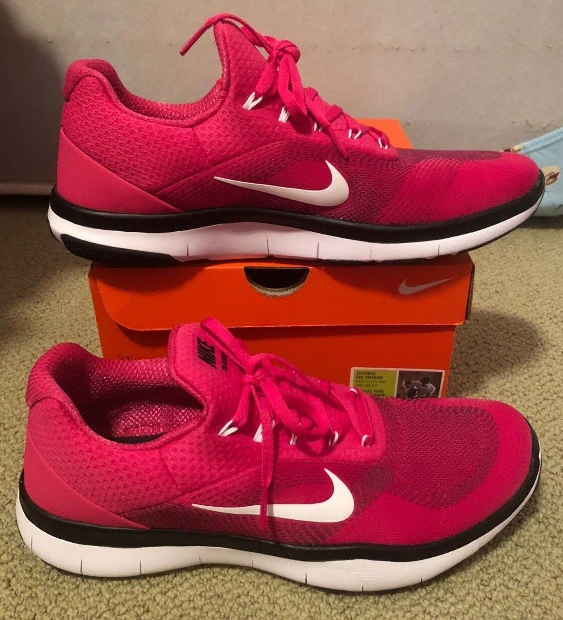 Nike Free Trainer V7 TB Pink Size 10.5 Men's Training shoes Worn 1 Time
