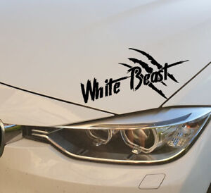 The-White-Beast-Auto-Aufkleber-Limited-Edition-Sticker-Tuning-Weisses-Auto-JDM