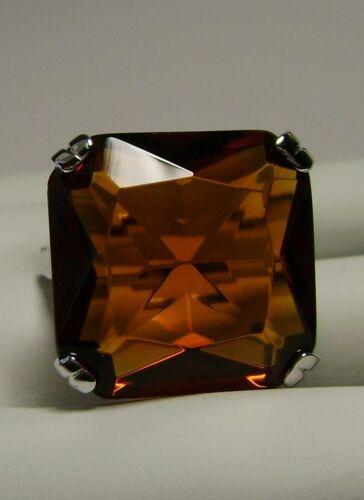 Made To Order} #1 20ct Big *Orange Citrine* Solid Sterling Silver Filigree Ring
