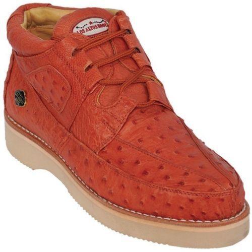 vendita all'ingrosso Los Altos Genuine COGNAC Ostrich Casual Casual Casual scarpe Lace Up Handmade scarpe da ginnastica EE  prezzo più economico