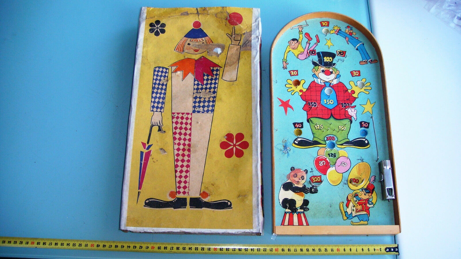 Russian USSR Pool Pinball Board  CIRCUS  Table Game Toy 1959.