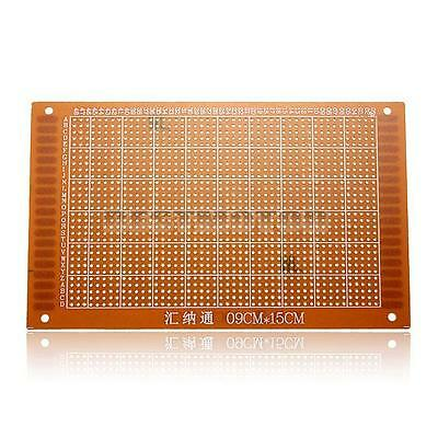 1x PCB Prototyping Printed Circuit Board Breadboard Prototype Stripboard 9x15cm