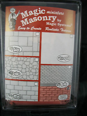 "/""Magic Masonry/"" Red Brick Kit 1sqft dollhouse miniature SW503R  1//12 Scale"