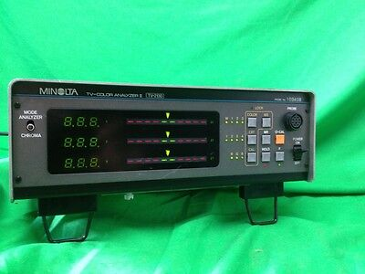 Amicable Minolta Tv Color Analyzer Ii Tv-2130 With Probe 103408 Hats