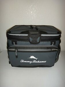 Tommy Bahama Coldlock LG Zipperless Cooler Bag Deep Freeze Insulation Gray Black