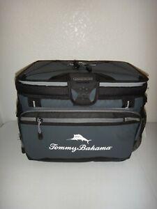 Tommy Bahama Coldlock LG Zipperless Cooler Bag Deep Freeze Insulation Gray Black