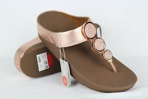 8448304ff99b New Fitflop Women s Halo Toe Thong Wedge Sandals 9 Rose Gold   142 ...