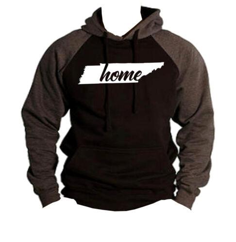Home Tennessee Map Black Raglan Hoodie sweater State Pride Homeland City TN V269
