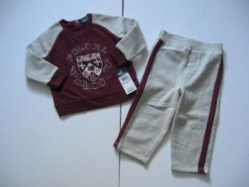 Football Fleece Shirt /& Pants Set 3M-24M RALPH LAUREN Baby Boy/'s