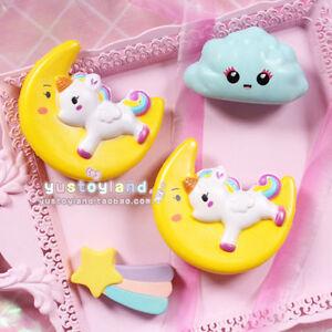 Squishy Cat Unicorn : Squishy Face Moon Colorful Rainbow Unicorn Cat Slow Rising Soft Squeeze Strap US eBay