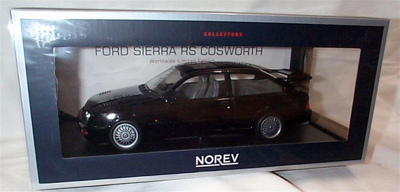 Ford Sierra Rs Cosworth 1986 Diecast coche de Carretera nero Ltd Ed 1 18 Norev 182775