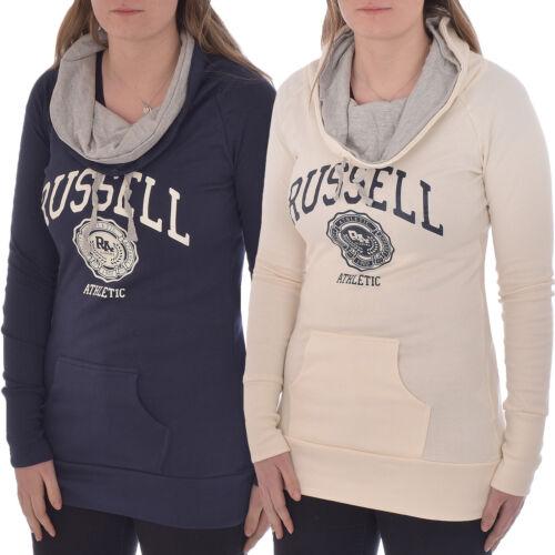 Russell Athletic Femme Longue Ligne À Col Cheminée Pullover à Capuche Sweat