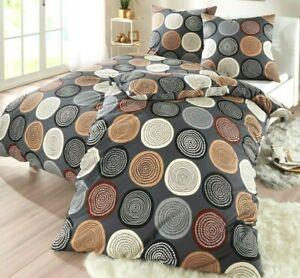 4 Tlg Bettwäsche Kreise Neu 135x200 Jersey Aus 100 Baumwolle