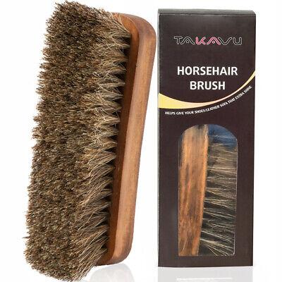 1Pack Wooden Handle Shoes Clean Brush Polish Hair Buffing Brush Shoe Brush