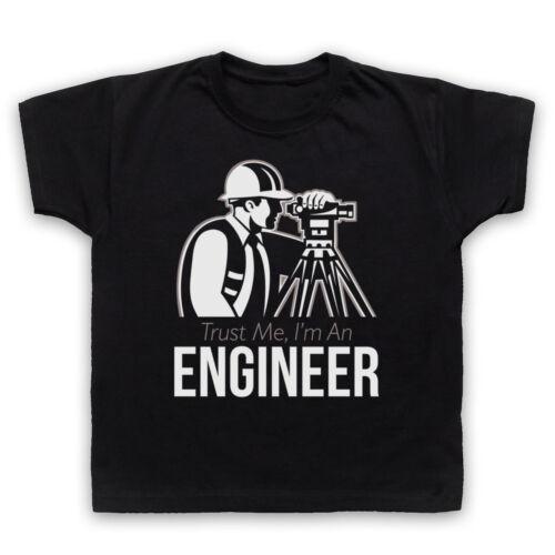 TRUST ME I/'M AN ENGINEER CIVIL MECHANICAL ELECTRICAL FUNNY T-SHIRT ADULTS /& KIDS