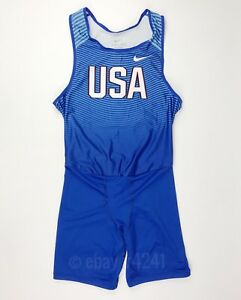 Men's Nike USA Olympics Skinsuit Speedsuit Spandex Unitard Large L