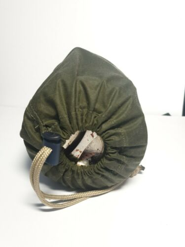 Waxed Canvas Pouch For 11cm Billy Can possibles pouch Outdoors bushcraft
