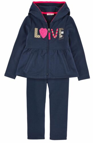 Billieblush Girls Full zip light fleece hoodie and pants navy