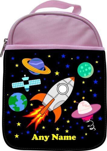 Personnalisé fusée espace Scène Enfants École Isolé lunchbox Lunch