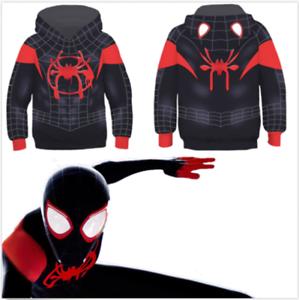 Spider-Man-Into-the-Spider-Verse-Miles-Morales-Kids-Boys-Hoodie-Fleece-Sweater