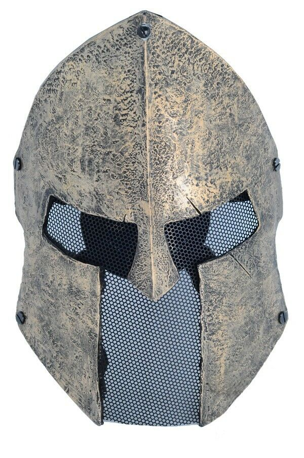 Fiber Resin Wire Mesh Full Face Predection Airsoft Sparta Mask PROP Halloween